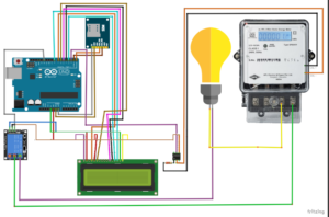 Circuit Diagram: (prepaid Energy meter), Prepaid and Theft Detection, Energy Meter using GSM and Arduino, Smart Energy meter, prepaid energy meter, Prepaid and Theft Detection Energy Meter using GSM and Arduino